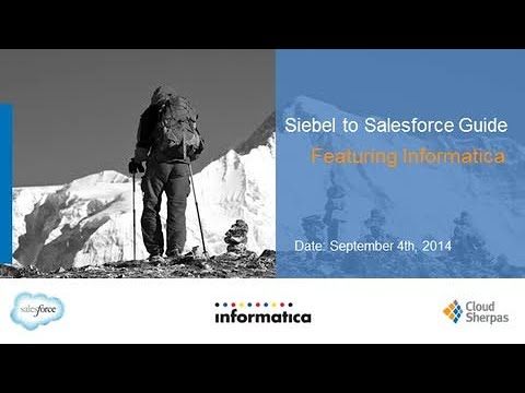 Siebel to Salesforce Guide with Cloud Sherpas