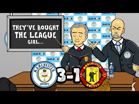 🔵3-1! Man City vs Man Utd!🔴 They've bought the league! (Song Parody Goals Highlights)