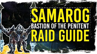 ✘ Quick Raid Guide to 3rd Boss - Samarog in Bastion of Penitent. This guide is not for challenge mode. Enjoy:-) ✘Following links will support my channel if you use them:★ Buy Guild Wars 2: Heart of Thorns: http://guildwars2.go2cloud.org/aff_c?offer_id=6&aff_id=306★ Play for FREE: http://guildwars2.go2cloud.org/aff_c?offer_id=19&aff_id=306With the support of ArenaNet.★ WEBPAGE: http://www.tekkitsworkshop.net★ FACEBOOK: http://www.facebook.com/TekkitsWorkshop★ TWITTER: http://www.twitter.com/TekkitsWorkshop★ SUBSCRIBE! http://goo.gl/8pmdoL♫ Intro: TheFatRat - Monody - http://goo.gl/cwQrxy♫ Outro: TheFatRat - Windfall - http://goo.gl/D4eG33♫ Background: Misael Gauna - Paradise - https://goo.gl/p25jIJ