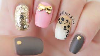 ♡ Matte Ombré Leopard Nails (Toothpick & Sponge) ♡ - YouTube