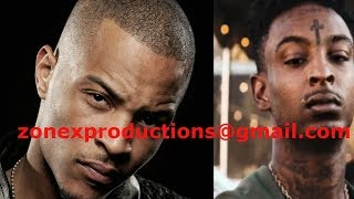 """T.I. responds to 21 Savage&Slaughter gang threats""""I'm from bankhead,proud of it"""""""