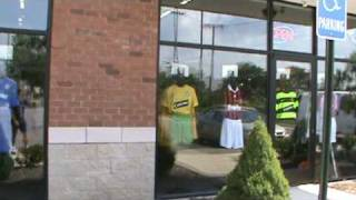 Canton (MI) United States  city pictures gallery : Chelsea and other football club kits on display at Canton MI USA soccer store