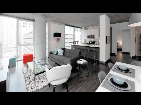 A Loop 2-bedroom, 2-bath model at the bold new Linea apartments
