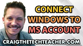 This video is brought to you by: http://www.craigthetechteacher.com - If you're like me, you didn't connect your initial user profile on Windows 10 to a Microsoft account. Unfortunatey many of the features of the Windows 10 operating system are actually tied to this account.The good news is connecting your Microsoft Account to your Windows 10 operating system is a snap. To do this you will simply follow a few steps, either create or login to a Microsoft account, and verify it.You'll want to connect your Microsoft account if you want to take advantages of things such as outlook e-mail integration, backups to OneDrive or even access to Microsoft Store items.