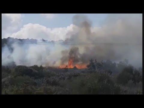 Φωτιά σε δασική έκταση στην περιοχή Καράβα στη Λέσβο