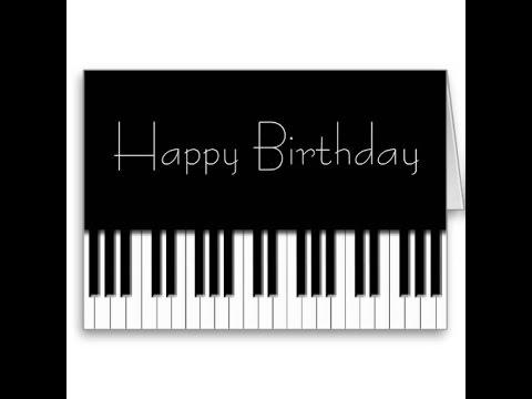Поздравления с днем рождения на синтезаторе