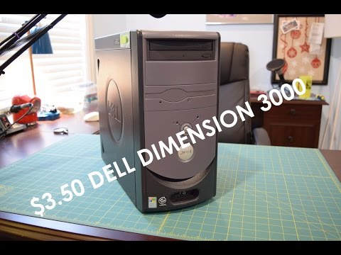 Garage Sale Finds: $3 Dell Dimension 3000 (Celeron 2.6GHz) Inside look, Overview, Cleaning