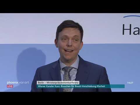 Berlin: Pressekonferenz zur Ministerpräsidentenkonferen ...