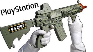 U.S. ARMY PLAYSTATION CONTROLLER... (Made in China) Unboxing HK416 PS3 Call of Duty Gameplay