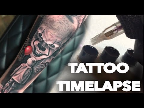 Tattoo Timelapse | Pennywise The Clown It | Chrissy Lee
