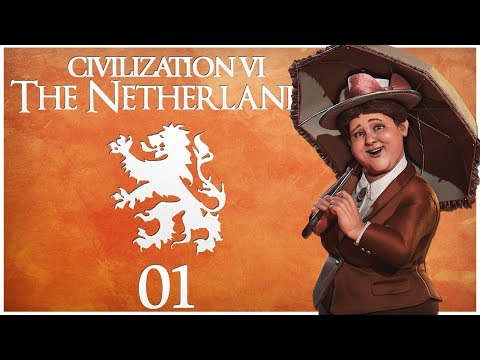 Civilization 6 - Rise and Fall Pre-Release as the Netherlands - Episode 1 ..The Hills of Amsterdam.. (видео)