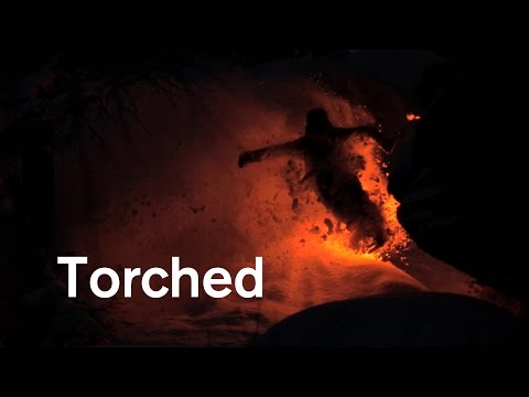 Skiing in the Dark With a Torch Attached to a Ski Is Crazy