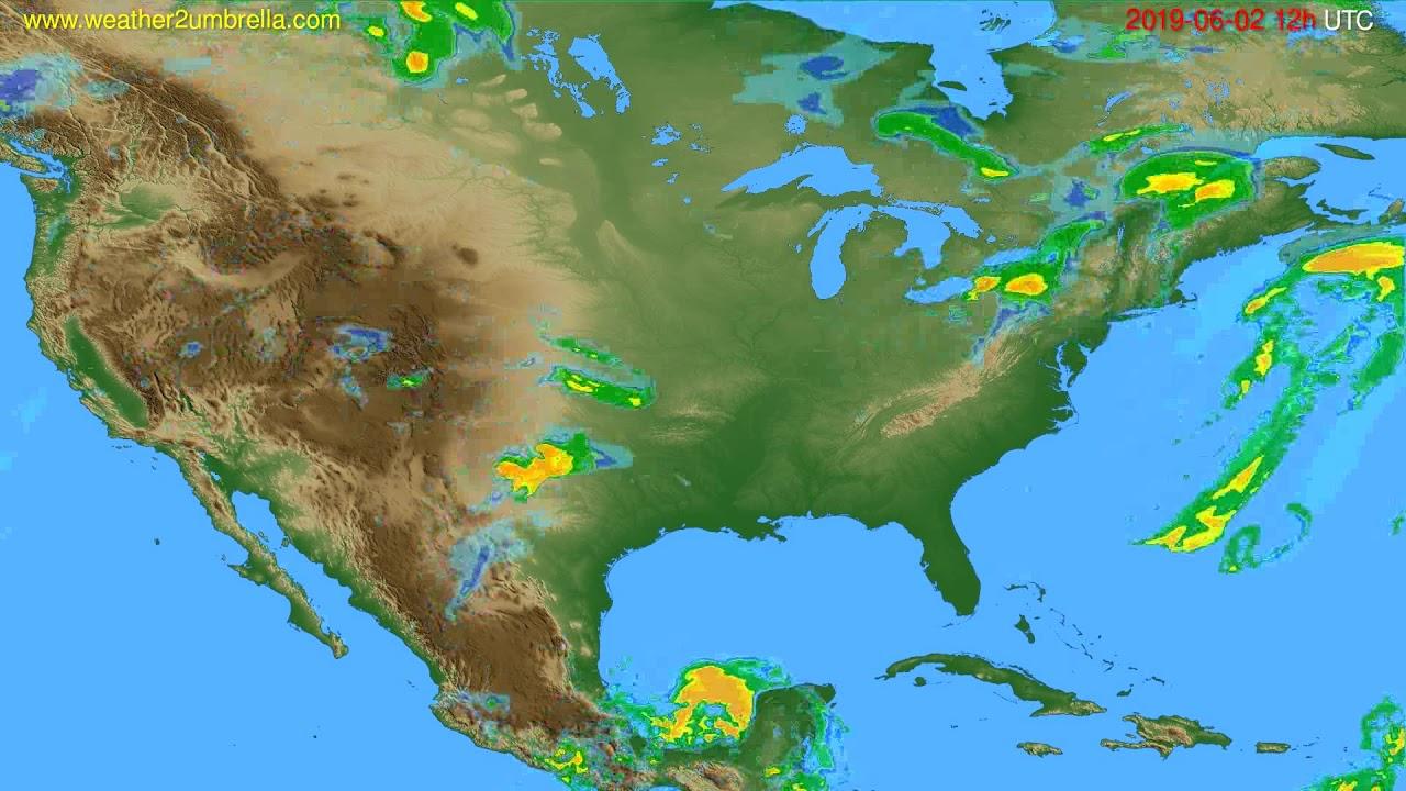 Radar forecast USA & Canada // modelrun: 00h UTC 2019-06-02