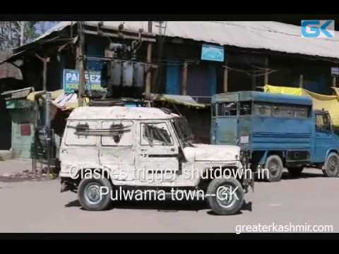 Clashes trigger shutdown in Pulwama town