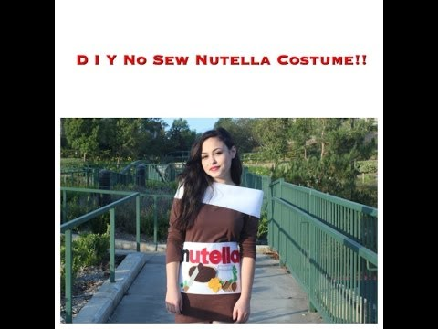 D I Y No Sew Nutella Costume!