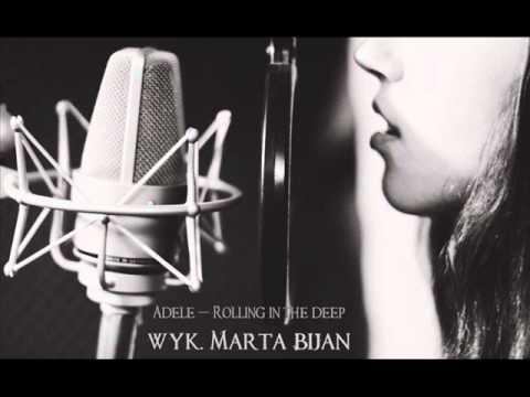 Tekst piosenki Marta Bijan - Rolling In The Deep po polsku