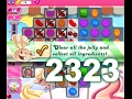 Candy Crush Saga Level 2323 (3 stars, No boosters)