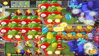 PLANTS VS ZOMBIES SURVIVAL ENDLESS FLAGS 100694690 - 100694696 MODE (PvsZ 2)