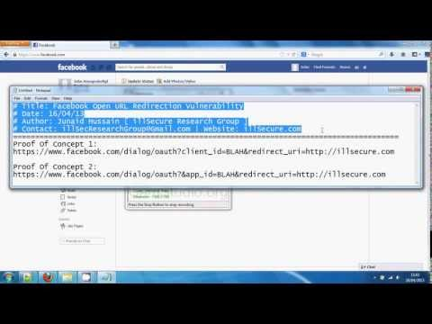 Open Redirect Vulnerability Identified in Facebook – Video