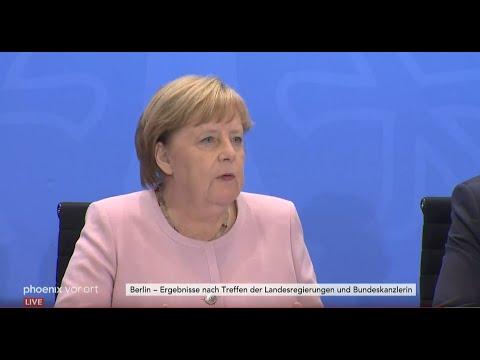 Pressekonferenz der Ministerpräsidenten und der Bun ...