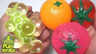 Video Learn Fruits Squishy Stress Ball Balloons Water ball For Kids MP3, 3GP, MP4, WEBM, AVI, FLV Mei 2017