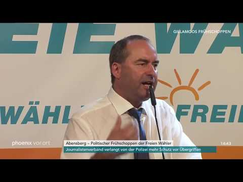 Hubert Aiwanger beim politischen Frühschoppen der Fre ...