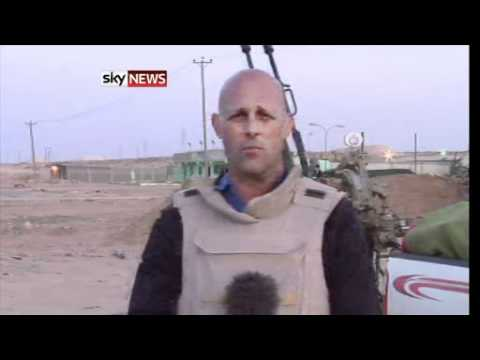xgotfiveonitx - A Sky News reporting team was earlier caught up in an attempted ambush of opposition fighters by the colonel's men on the outskirts of Bin Jawad. Sky's secur...