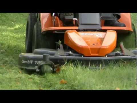 Садовый райдер бензиновый HUSQVARNA R 420TSX AWD - видео №6