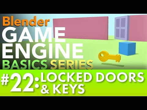 Blender Game Engine Basics Tutorial #22: Doors & Keys #b3d