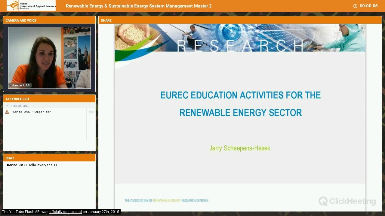 Hanze UAS | Renewable Energy & Sustainable Energy System Management | Webinar