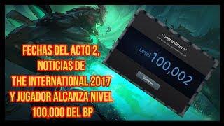 Por fin tenemos noticias del Acto 2 y la gran locura del jugador de nivel 100 000 del BP TI 2017. Sigue al canal para obtener más noticias de Dota 2. El vídeo ...