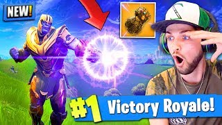 Download Video *NEW* THANOS GAMEPLAY in Fortnite: Battle Royale! (INFINITY GAUNTLET) MP3 3GP MP4