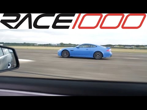 mercedes e63 amg performance package 557hp vs. jaguar xkr-s (60-300kmh)
