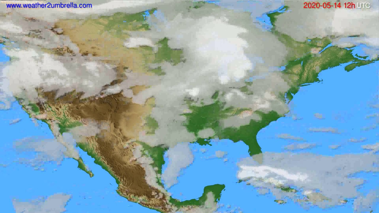 Cloud forecast USA & Canada // modelrun: 00h UTC 2020-05-14