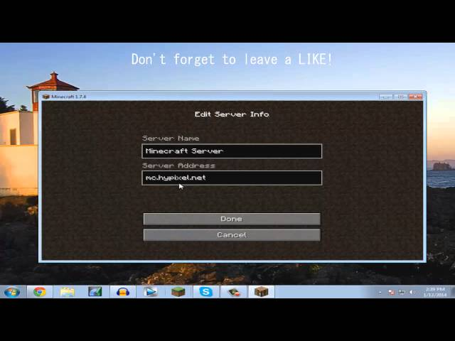 how to use servers in minecraft pc