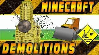 Destrucción, demoliciones, epicidad... ¿Como sería Minecraft si sus casas y construcciones tuviesen físicas realistas? En este video lo descubrireis! No se trata de una simple destrucción con TNT sino que he metido un mapa de Minecraft con una construcción de 30.000 cubos (el edificio Verizon de Nueva York) en un simulador de físicas para ver como sería una demolición con bola si cada cubo tuviese su propia física, y no la antigravedad que actualmente reina en Minecraft.¡A demoler se ha dicho! Como diría Salvador Limones de Grim Fandango: ¡Viva la demolición! O algo parecido era... ;-)No os perdais este espectáculo!Enlace de descarga del Edificio Verizon: http://www.planetminecraft.com/project/verizon-building-new-york-usa/ENGLISH:Destruction, demolition, epicity ... How would be Minecraft with realistic physics? You will discover it watching this video! And no, It's no a simple TNT explosion. It's a full simulation! A 30000 cubes building (Verizon New York Building) will be destroyed with a Ghast wrecking ball. Let's see it!Download Verizon Building map: http://www.planetminecraft.com/project/verizon-building-new-york-usa/