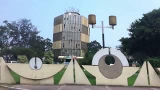 Driving through the city of Brazzaville in Congo Republic