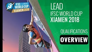 IFSC Climbing World Cup - Xiamen 2018 - Lead - Qualifications Overview by International Federation of Sport Climbing