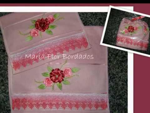 bordados flores de fita - maria flor bordados