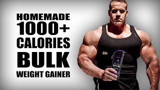 Homemade Bulk Mass Gainer without supplements | 1000+ calories