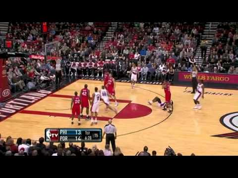 Wesley Matthews's four point play against Sixers