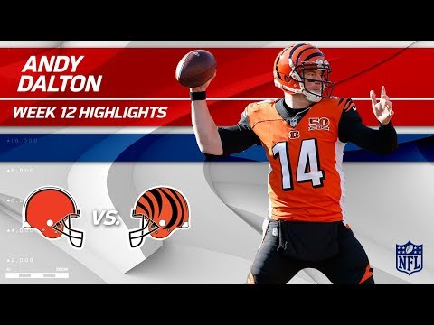 Video: Andy Dalton Leads Cincy to Victory w/ 2 TDs vs. Cleveland!   Browns vs. Bengals   Wk 12 Player HLs