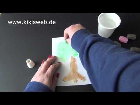 Basteln: Stärkeflips Bilder malen