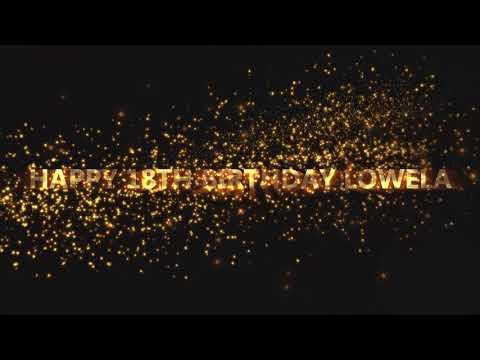Lowela Birthday Greetings!