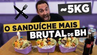 O SANDUÍCHE MAIS BRUTAL DE BH!! Tosco Burguer! (~5kg)