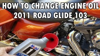10. How to Change the Engine Oil on a 2011 Harley Road Glide 103