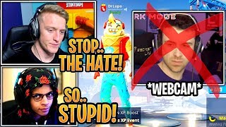 Streamers React & Are UPSET After DrLupo STOPS Streaming with a Webcam Because of HATE! - Fortnite