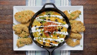 Tortilla Chip-Crusted Chicken With Queso Fundido • Tasty by Tasty