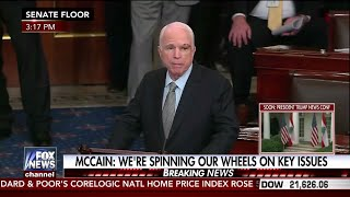 Having just been diagnosed with brain cancer, John McCain returned to the Senate and gave a moving speech in which he...