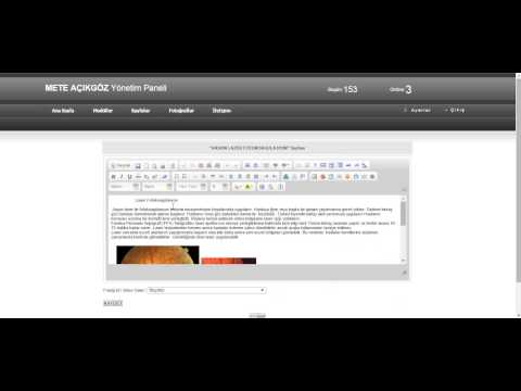 <h2>Web Sayfanızda herhangi bir içeriğe yazıya Link verme url ekleme</h2><br><br>